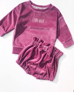 Różowa bluza dziecięca ilovemilk.pl z bawełny dla dziewczynek