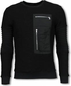 Czarny sweter Justing z wełny