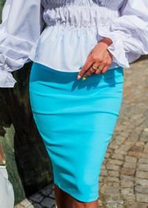 Niebieska spódnica Fason z bawełny