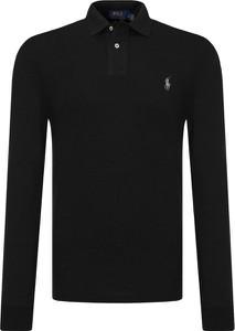 Czarna koszulka polo POLO RALPH LAUREN z długim rękawem