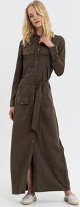 Brązowa sukienka Diverse maxi