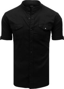 Czarna koszula Dstreet z krótkim rękawem