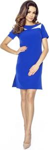 Niebieska sukienka Ptakmoda.com trapezowa