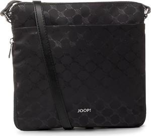 Czarna torebka Joop! na ramię z nadrukiem