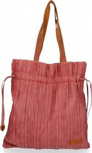 Czerwona torebka Bee Bag duża na ramię w wakacyjnym stylu