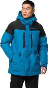 Niebieska kurtka Jack Wolfskin w sportowym stylu