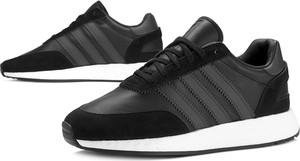 Czarne buty sportowe Adidas w sportowym stylu ze skóry