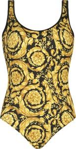Żółty strój kąpielowy Versace w stylu casual z nadrukiem
