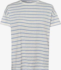 Niebieski t-shirt Opus z okrągłym dekoltem z krótkim rękawem