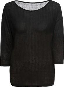 T-shirt bonprix BODYFLIRT z bawełny z dekoltem w łódkę z długim rękawem