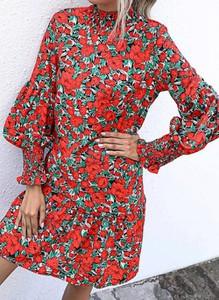 Sukienka Cikelly w stylu boho z długim rękawem