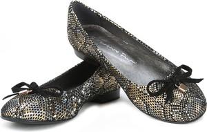 Brązowe baleriny Lafemmeshoes w stylu casual ze skóry