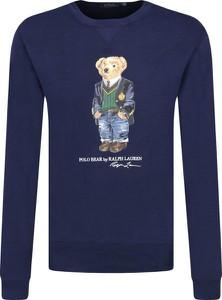 Niebieska bluza POLO RALPH LAUREN z nadrukiem
