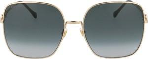 Żółte okulary damskie Gucci
