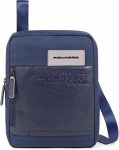 Niebieska torba PIQUADRO ze skóry