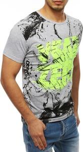 T-shirt Dstreet z krótkim rękawem z bawełny z nadrukiem