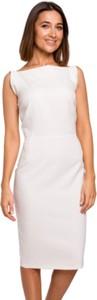 Sukienka Style ołówkowa midi z okrągłym dekoltem
