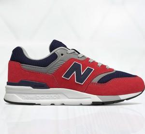 Czerwone buty sportowe dziecięce New Balance sznurowane
