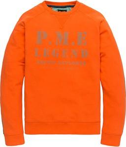 Pomarańczowa bluza Pme Legend w młodzieżowym stylu