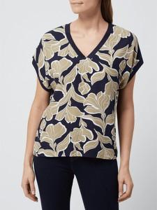 Bluzka Esprit z dekoltem w kształcie litery v z krótkim rękawem