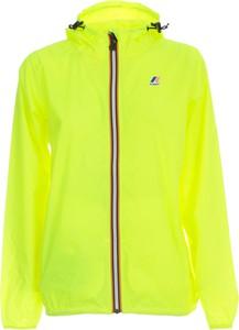 Żółta kurtka K-Way krótka w stylu casual
