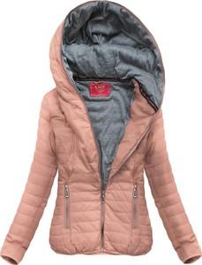 Różowa kurtka Goodlookin.pl w stylu casual krótka