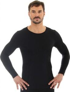 T-shirt Brubeck z wełny z długim rękawem w sportowym stylu