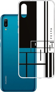 Etui amortyzujące uderzenia do Huawei Y9 2019, z unikatową grafiką 3D ferya LINE