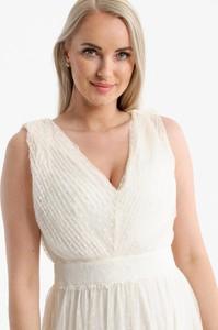 Sukienka Butik Ecru z dekoltem w kształcie litery v