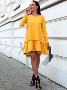Sukienka SELFIEROOM midi z długim rękawem z bawełny
