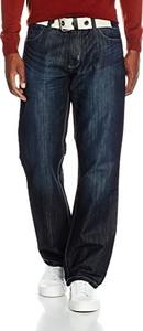 Niebieskie jeansy Enzo w stylu casual z jeansu