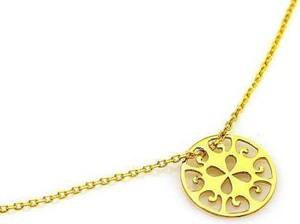 Lovrin Złoty naszyjnik 585 celebrytka ażurowe kółeczko