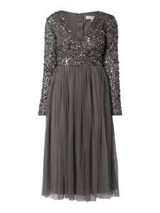 Brązowa sukienka Maya Deluxe rozkloszowana