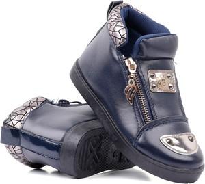 Granatowe buty dziecięce zimowe Yourshoes