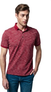Czerwona koszulka polo Recman z krótkim rękawem