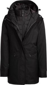 Czarna kurtka Outhorn długa z plaru w stylu casual