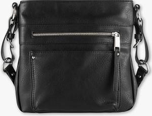 Czarna torebka C&A w młodzieżowym stylu na ramię duża