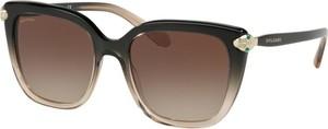 Brązowe okulary damskie Bvlgari