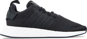 Granatowe buty sportowe Adidas sznurowane z zamszu