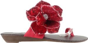 Czerwone klapki Kokietki w stylu casual