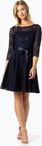 Sukienka Swing z okrągłym dekoltem z długim rękawem
