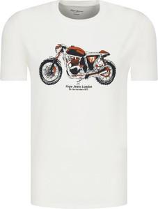 T-shirt Pepe Jeans z nadrukiem w młodzieżowym stylu