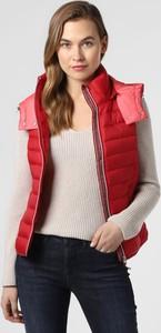 Czerwona kamizelka Esprit krótka w stylu casual