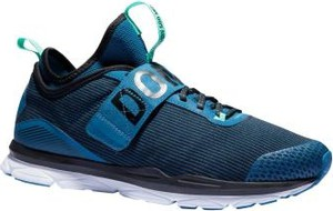 Granatowe buty sportowe Domyos sznurowane z płaską podeszwą
