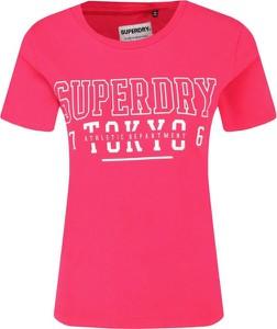T-shirt Superdry z okrągłym dekoltem w młodzieżowym stylu