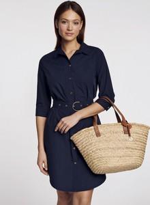 Sukienka Ochnik mini koszulowa z długim rękawem