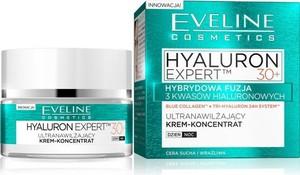 Eveline Hyaluron Expert 30+ krem-koncentrat ultranawilżający na dzień i noc 50 ml