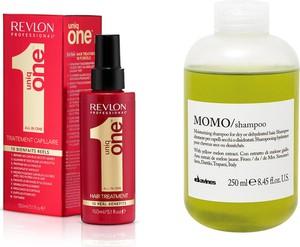 Revlon Uniq One and Momo | Zestaw nawilżająco-upiększający: kuracja do włosów 150ml + szampon nawilżający 250ml - Wysyłka w 24H!