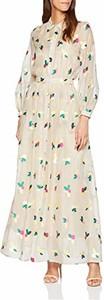 Sukienka Paul & Joe z długim rękawem z kołnierzykiem maxi
