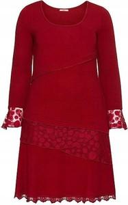 Sukienka John Brown midi w stylu casual z długim rękawem